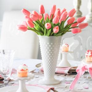 Valentine's Day tablescape decor