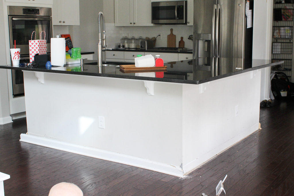 Easy Affordable Diy Kitchen Island Shiplap Home And Hallow