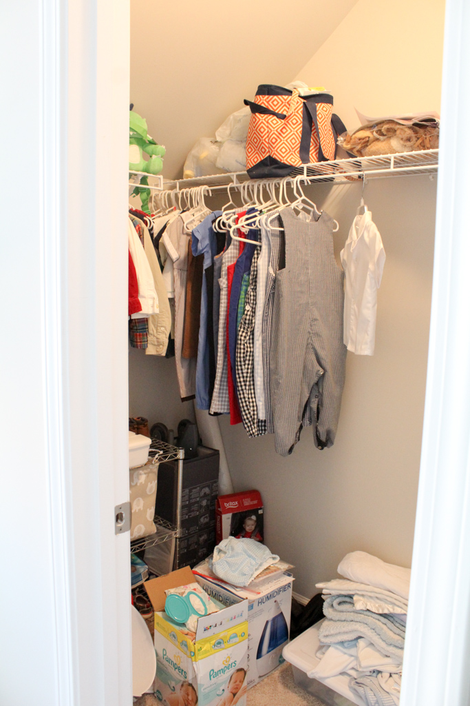 nursery closet before